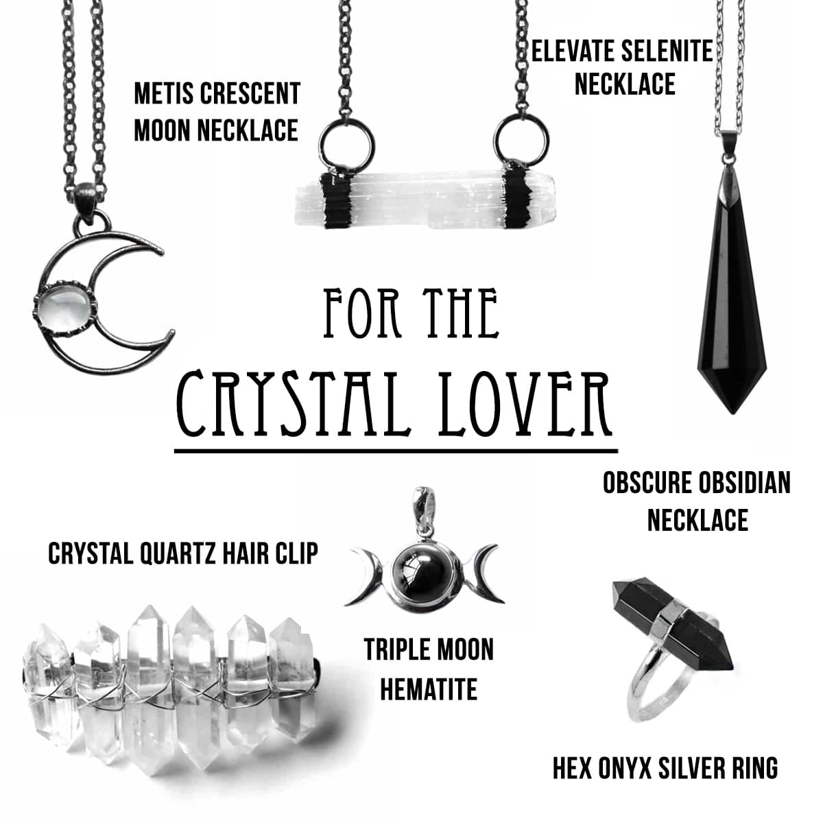 Master Healer Crystal Quartz Hair Pin
