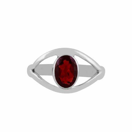 dragon-eye-garnet-cut-stone-stilver-ring-hellaholics-front