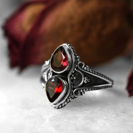 gathika-red-garnet-silver-ring-hellaholics