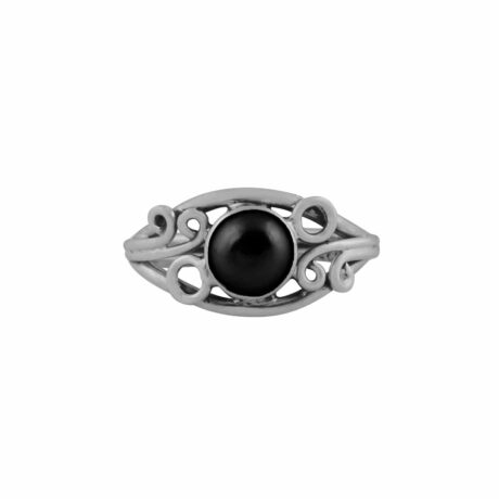 arvani-black-onyx-silver-mid-ring-front-hellaholics