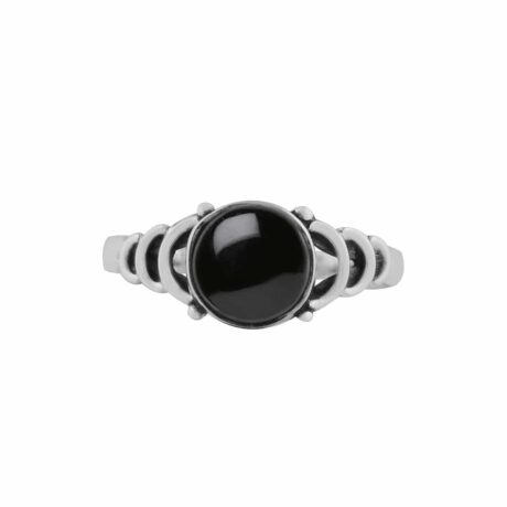 audra-black-onyx-sterling-silver-ring-front-hellaholics
