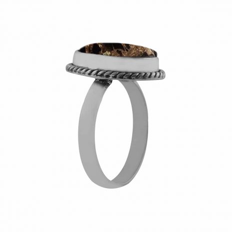gaia-black-copper-turquoise-silver-ring-side