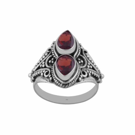 gathika-garnet-cutstone-silver-ring-hellaholics