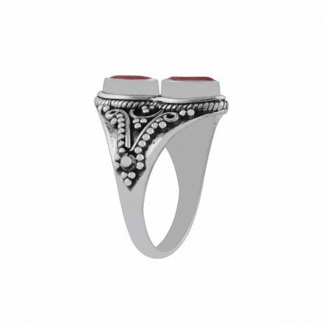 gathika-garnet-cutstone-silver-ring-side-hellaholics