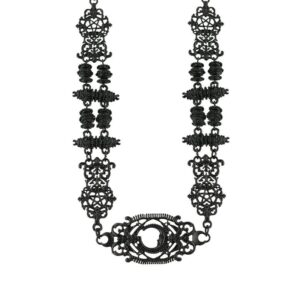Black gothic necklace with old-fashion aged texture.