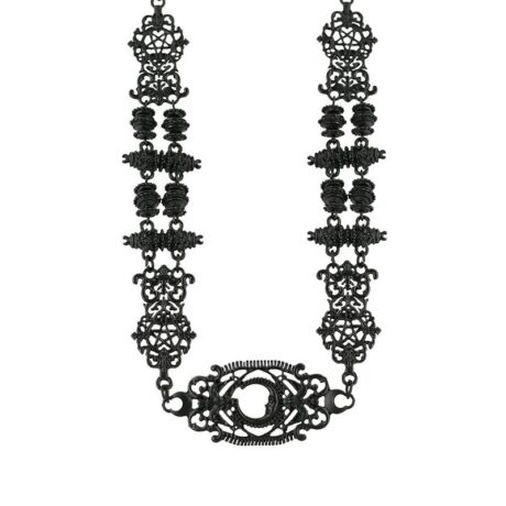 Look into the future with this black gothic detailed necklace from Restyle.