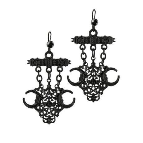 Look into the future with these black gothic fortune teller earrings from Restyle.