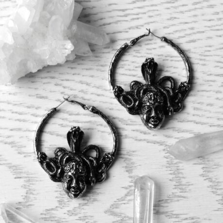 medusa-silver-hoop-earrings-restyle-sold-hellaholics