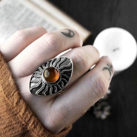 warriors-call-amber-silver-ring-hellaholics