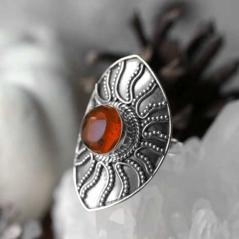 warriors-call-amber-sterling-silver-ring-hellaholic