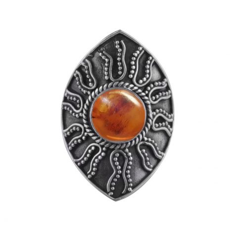 warriors-call-amber--sterling-silver-ring-hellaholics