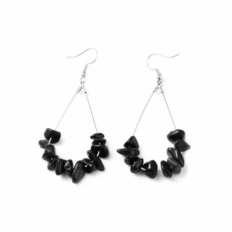 obsidian-stainless-steel-earrings