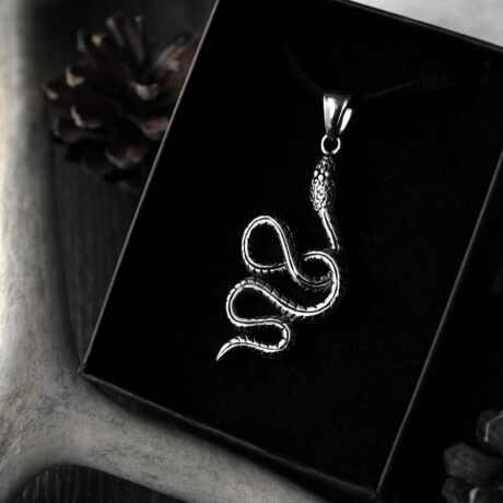 serpent-snake-stainless-steel-amulet-hellaholics