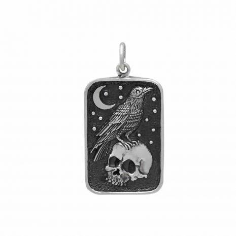 ravens-skull-sterling-silver-necklace-hellaholics-1